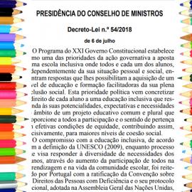 Sobre o Decreto-Lei n.º 54/2018 e a educação pré-escolar