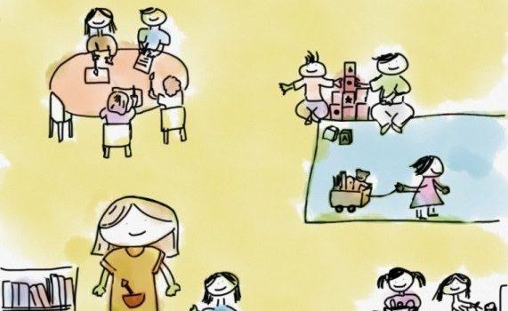 """""""Os meninos podem escolher o que querem fazer"""": o direito de participação em salas de jardim de infância"""